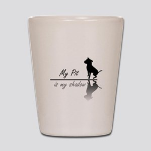 My Pit is my shadow Shot Glass